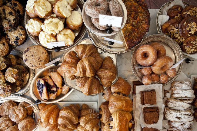 Pastry assortment on a tabletop