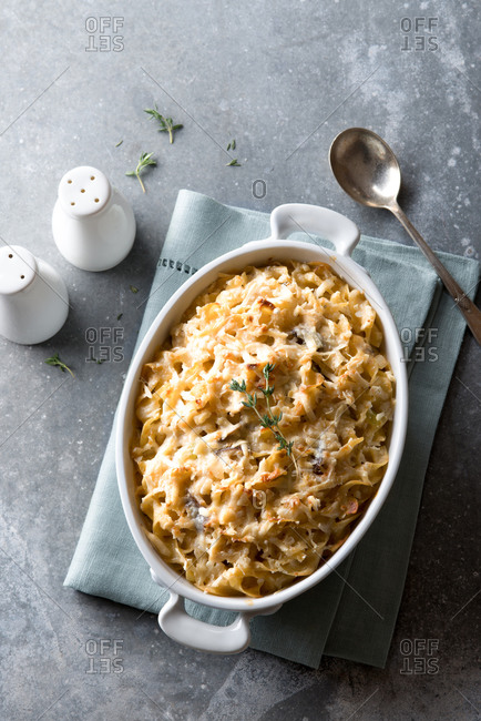 Paprika chicken and egg noodle casserole