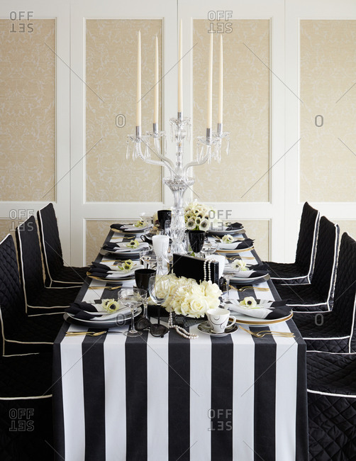 Ornate table setting
