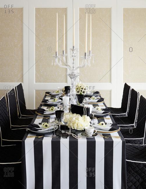 Ornate table setting