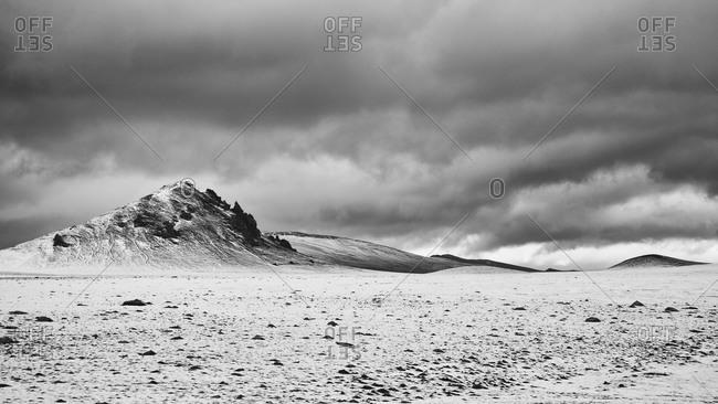 Iceland Highlands in black and white