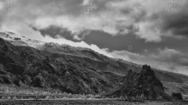 Thorsmork mountain ridge in Iceland