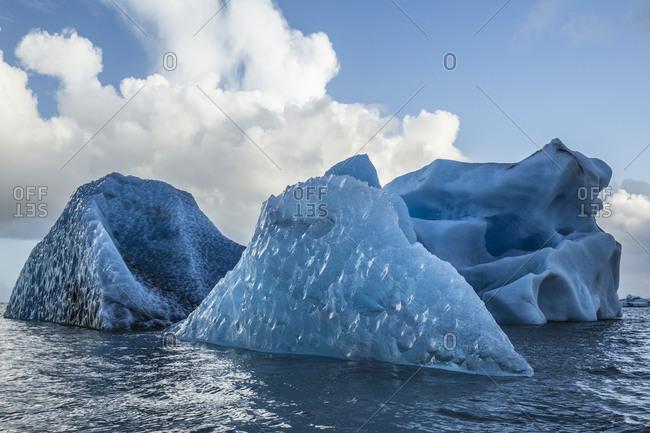 Melting icebergs in Jokulsarlon, Iceland