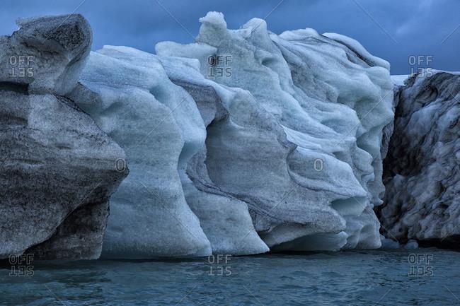 Vast icebergs at Jokulsarlon, Iceland