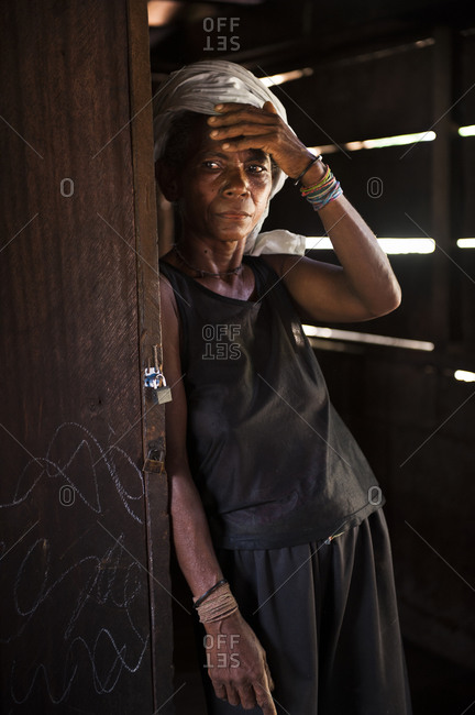 Abra province, Philippines - July 24, 2011: Portrait of an Agta woman