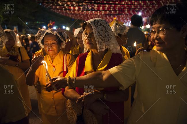 Cebu City, Philippines - January 10, 2013: Sinulog candle light procession