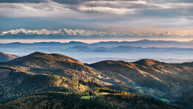 Black Forest Alps View Panorama