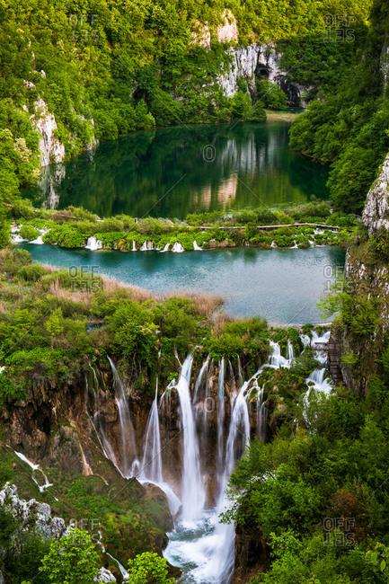 Plitvice Lake Vertical Panorama