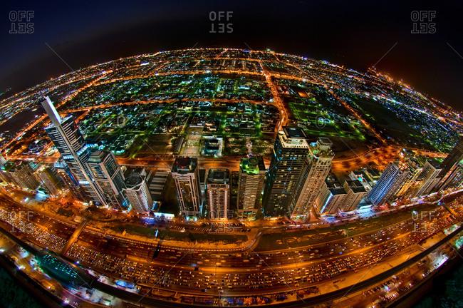 Roadway in Dubai