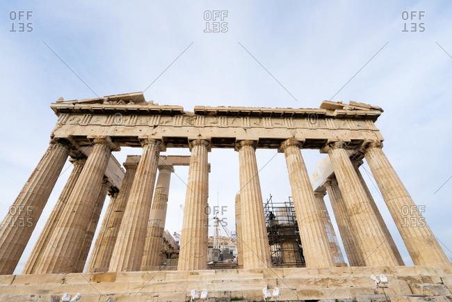 The Parthenon temple at the Athenian Acropolis