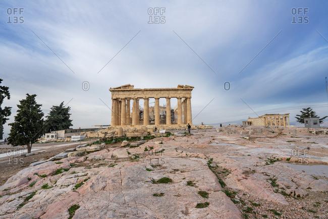 Athens, Greece - December 5, 2014: View of the Parthenon at the Acropolis