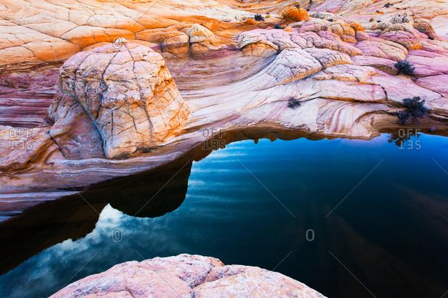 River through rocky desert terrain