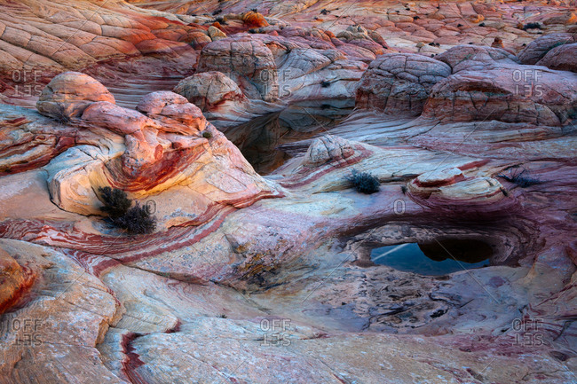 Rocky landscape and water pools