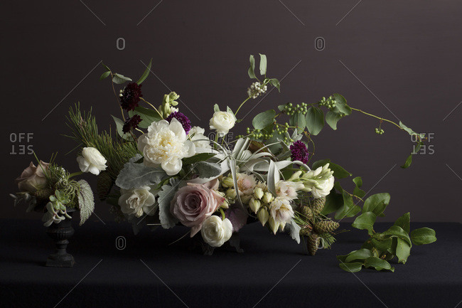 Bunch of fresh flowers - Offset