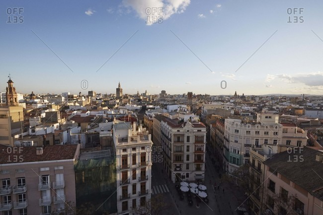 View from the old city gate of Valencia, Spain