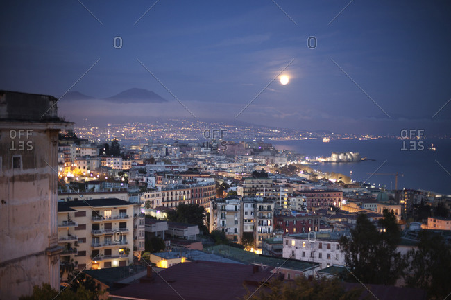 Gulf of Naples at night