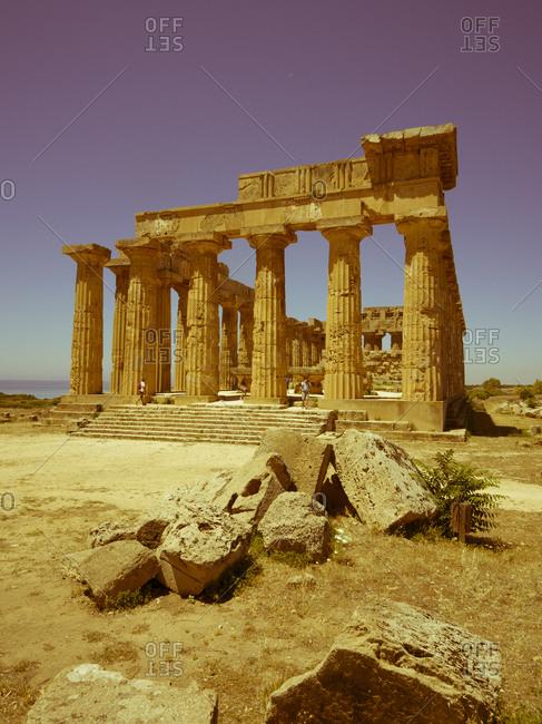 View to temple E, Sicily