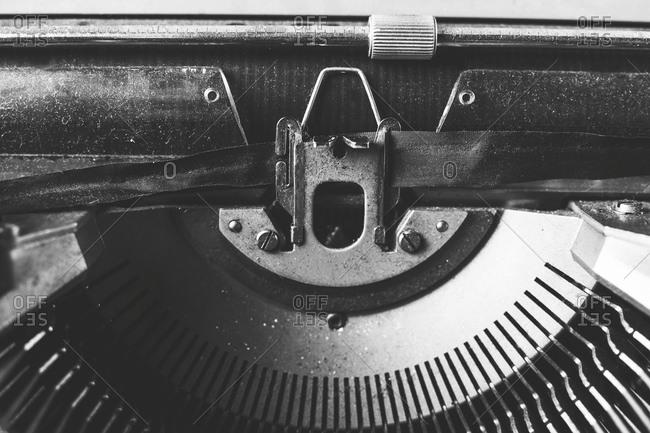 Typewriter ribbon, close up