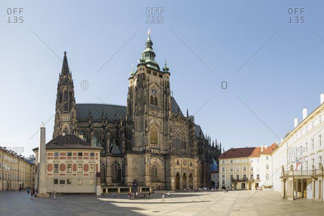 Prague, Czech Republic - June 6, 2014: Hradcany Castle and St Vitus Cathedral, Prague