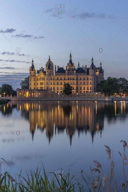 Schwerin Castle at dawn, Schwerin