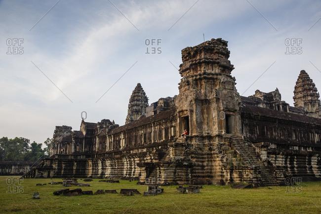 Angkor, Cambodia - December 9, 2013: Angkor Wat temple, Angkor, Cambodia