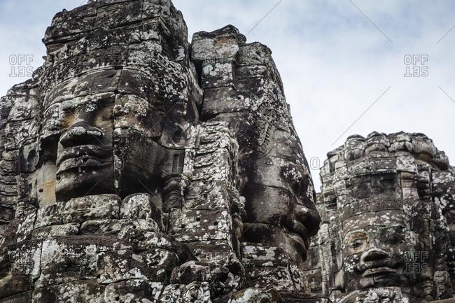 Angkor, Cambodia - December 9, 2013: The Bayon Temple at Angkor Thom, Cambodia