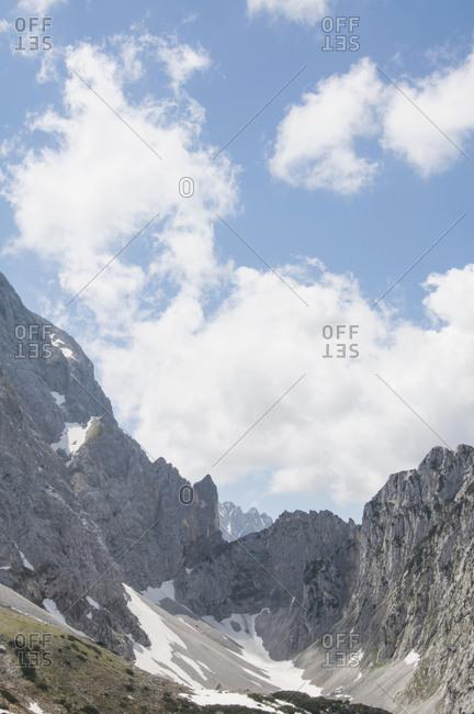 Mountain landscape summer valley Karwendel Austria