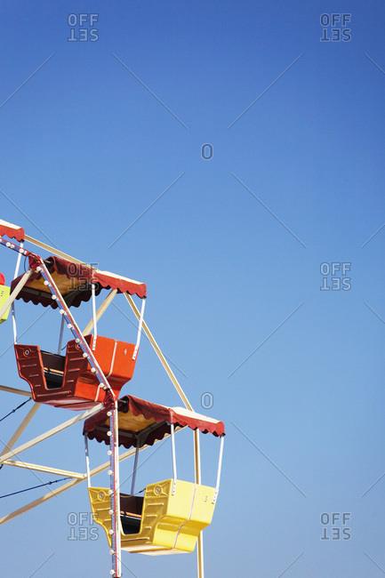 Detail of Ferris wheel wagons at Oktoberfest Munich Germany