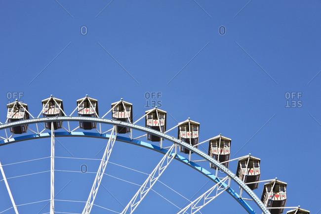 Detail of Ferris wheel at Oktoberfest Munich Germany