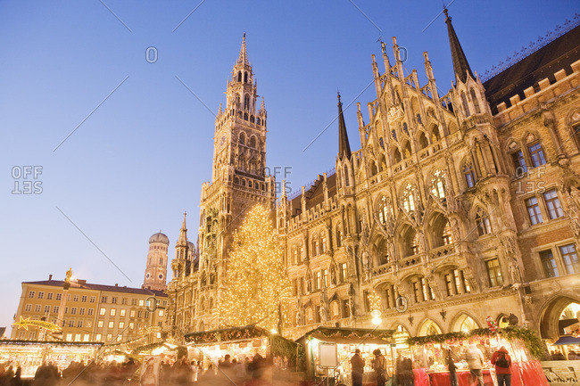 Christmas Market in Marienplatz Munich Germany