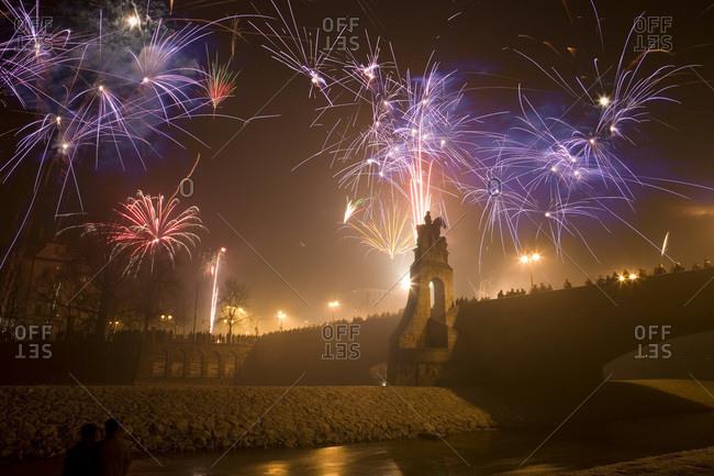 New Years celebration Munich Bavaria Germany
