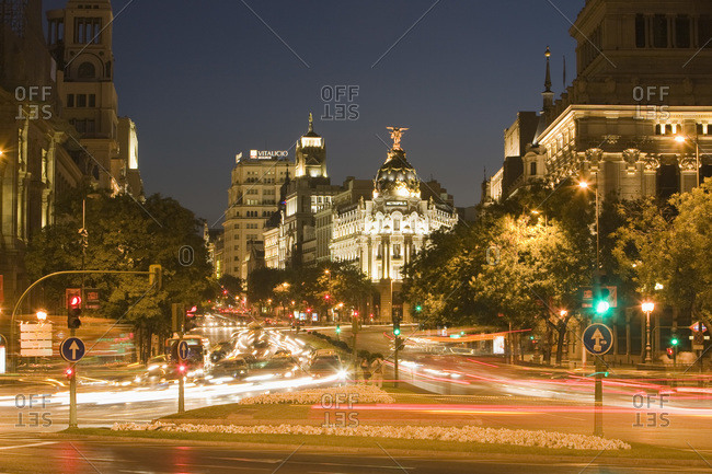 Grand Via Edificio Metropolis Building Madrid Spain