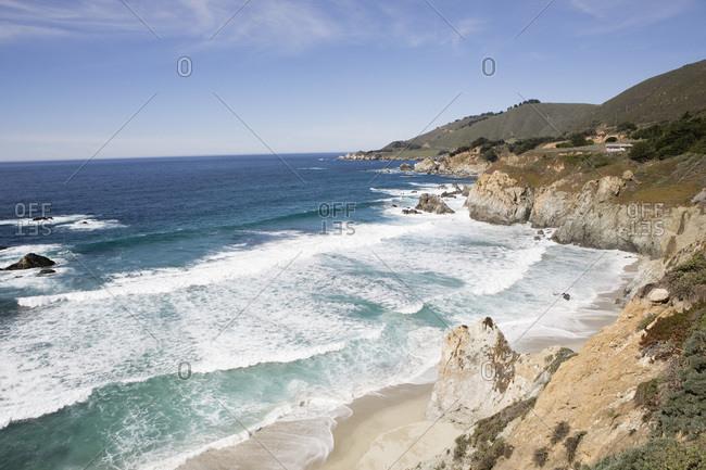 Coastline near Bixby Bridge Big Sur California USA