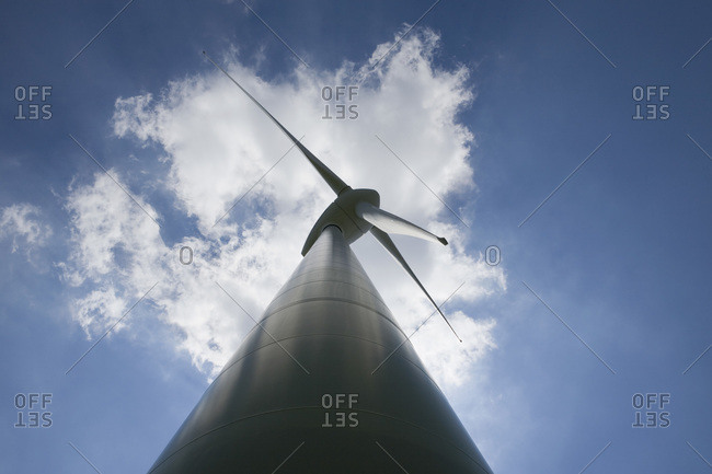 Large wind turbine Munich Bavaria Germany
