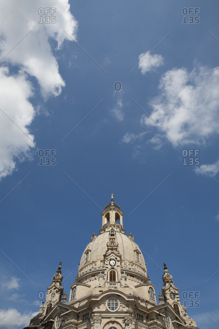 Dome of Frauenkirche Dresden Saxony Germany