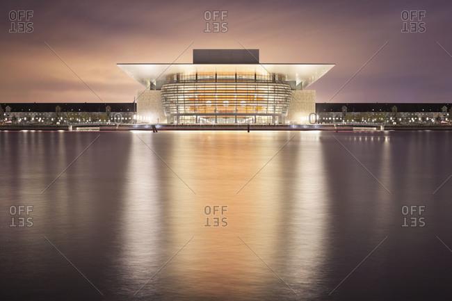 Copenhagen, Denmark - September 14, 2012: Copenhagen Opera House at night