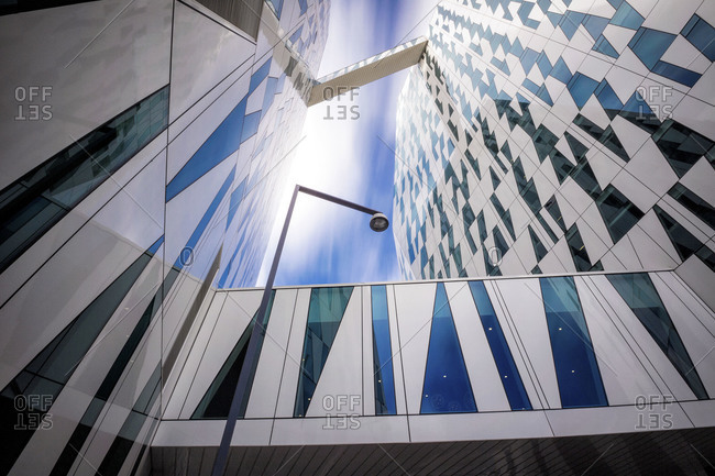 Copenhagen, Denmark - September 15, 2012: Close up of Bella Sky Comwell Hotel