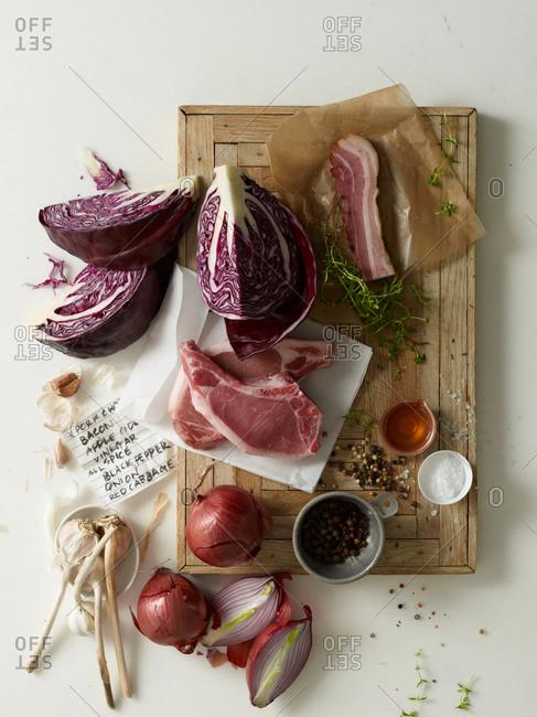 Pork chops with fresh vegetables