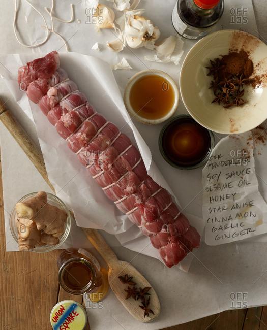 Pork tenderloin with spices