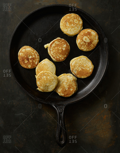 Pancakes in a skillet