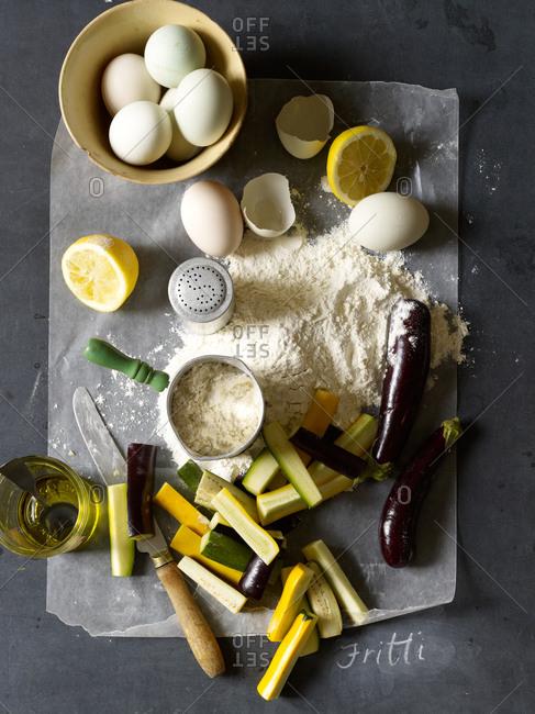 Ingredients on worktop