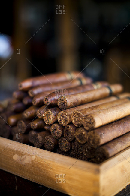 Hand rolled cigars at a shop in Las Terrenas, Dominican Republic