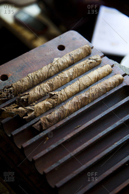 Hand rolled cigars at a shop in Las Terrenas