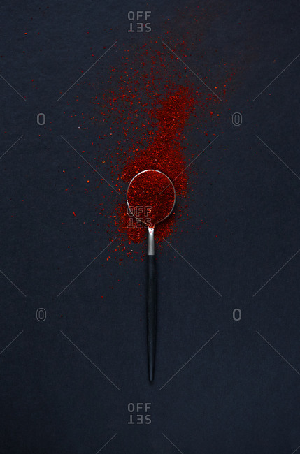 A spoonful of paprika