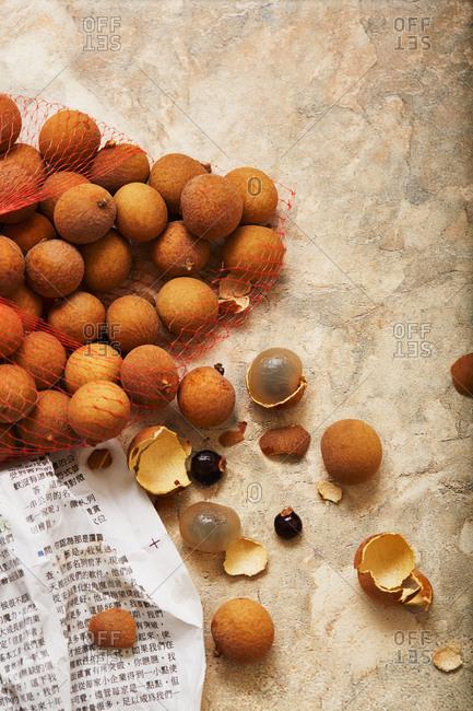 A bag of longan fruit