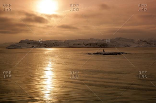 Barents sea in the Glacial Ocean The Arctic. Norway