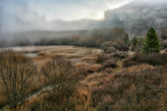 Natural environment of the lagoon located in the Serrania de Cuenca