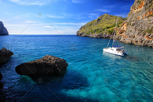 Sa Calobra on the island of Mallorca