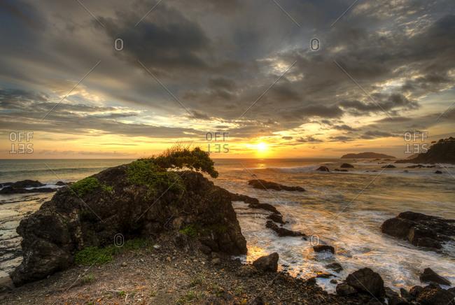 Sunset on the Pacific Coast of Costa Rica near Jaco