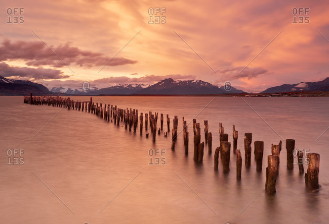 An old pier near Puerto Natales Chile.